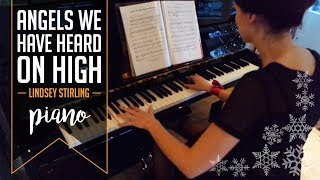 Angels We Have Heard On High | piano backing track | Lindsey Stirling - Warmer In The Winter