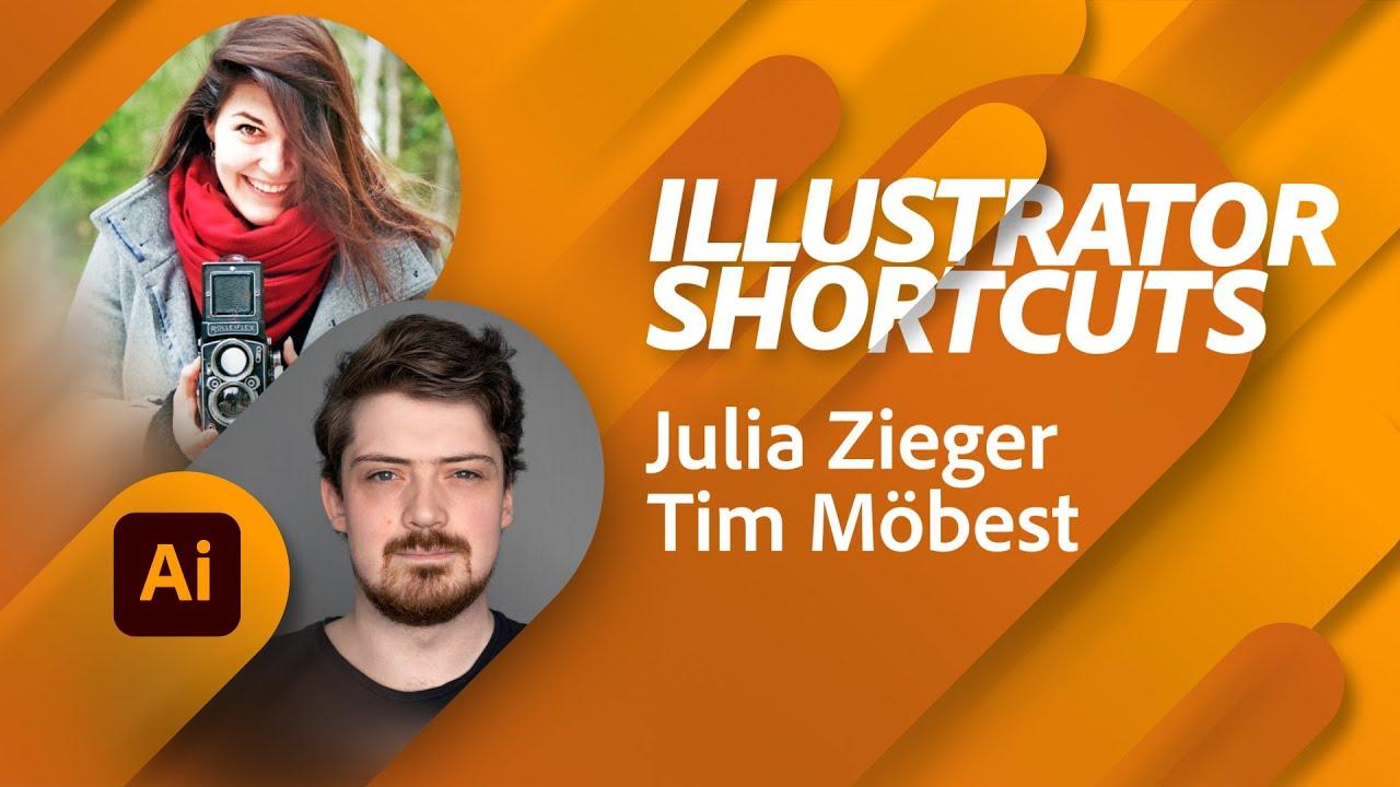 Clevere Shortcuts in Illustrator - mit Julia Zieger und Tim Möbest |Adobe Live