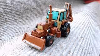 """видео: Юмз-6кл """"Петушок"""" эо-2621 из пластилина! Трактор из пластилина!"""