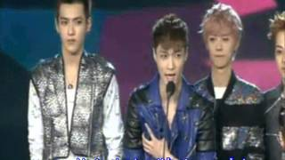 EXO M - 130414 13th Music Awards - Winning 2012 Most Popular Group (eng subbed)
