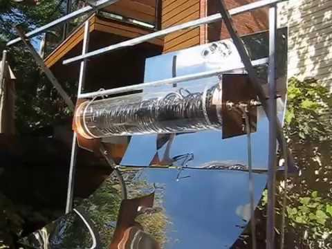 solar concentrator - heated water for direct use