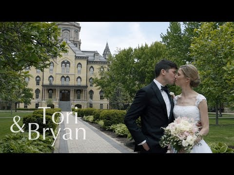 University of Notre Dame Wedding Video | Tori & Bryan