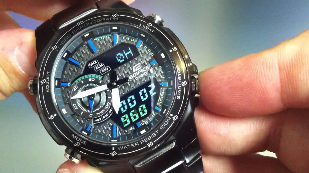 2029e9f7ab7c Casio Edifice EFA-131 Black Lable Watch EFA131BK-1AV - YouTube