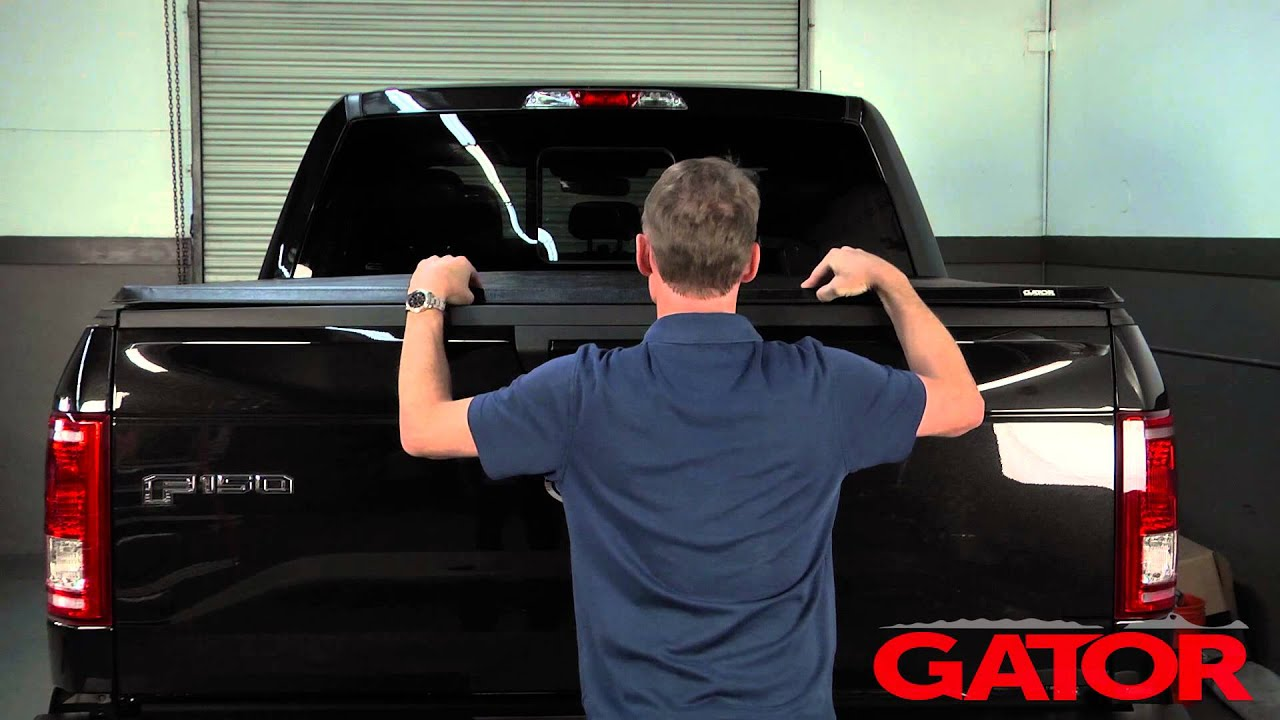 How To Install Gator Trifold Soft Folding Tonneau Cover At Autocustoms Com Youtube