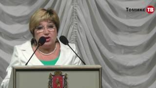 Ольга Хохлова   Выступление на торжественном собрании в честь Дня медицинского работника 2017