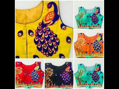 Designer Painting Blouses Beautiful Collection || Peacock Design Blouses