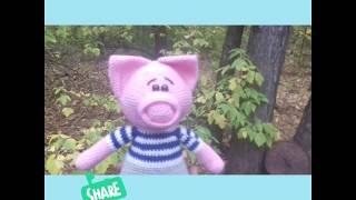 Вязаный #поросёнок,#символ 2019 года.Knitted #pig #character 2019