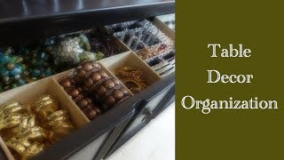 Home Organization: Tips On Storing Decorative Table Decor
