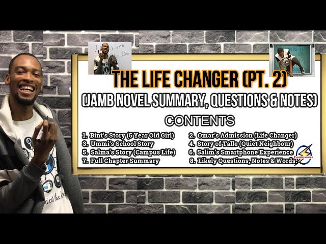 Jamb's Life Changer Summary & Likely Questions (Pt.  2)