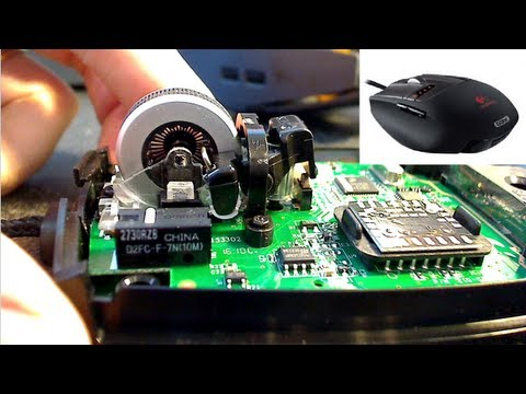 How to repair a Logitech Laser Mouse G9x/G9 with a shorted
