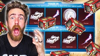 TRADING UP ALL MY TRIUMPH CRATE ITEMS!
