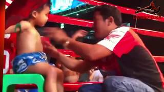 Epic 2 year old muay thai kids fight in a ring