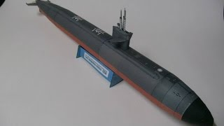 Submarino Nuclear clase los ángeles 1:144 Papercraft o papermodel