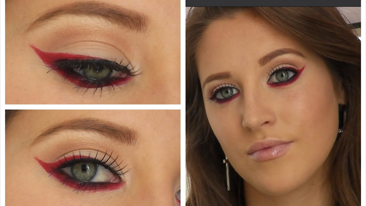 how to use red eyeliner