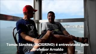 Tomás Sánchez BICIGRINO é entrevistado pelo Professor Arnaldo NOIS NA FITA A TV