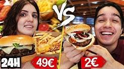 ON MANGE LE PLUS CHERS VS LE MOINS CHERS PENDANT 24H !