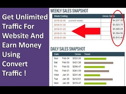 Get Unlimited Traffic For Website And Earn Money Using Convert You