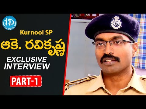 Kurnool SP Ake Ravi Krishna Interview || Part - 1 || Talking Politics With iDream