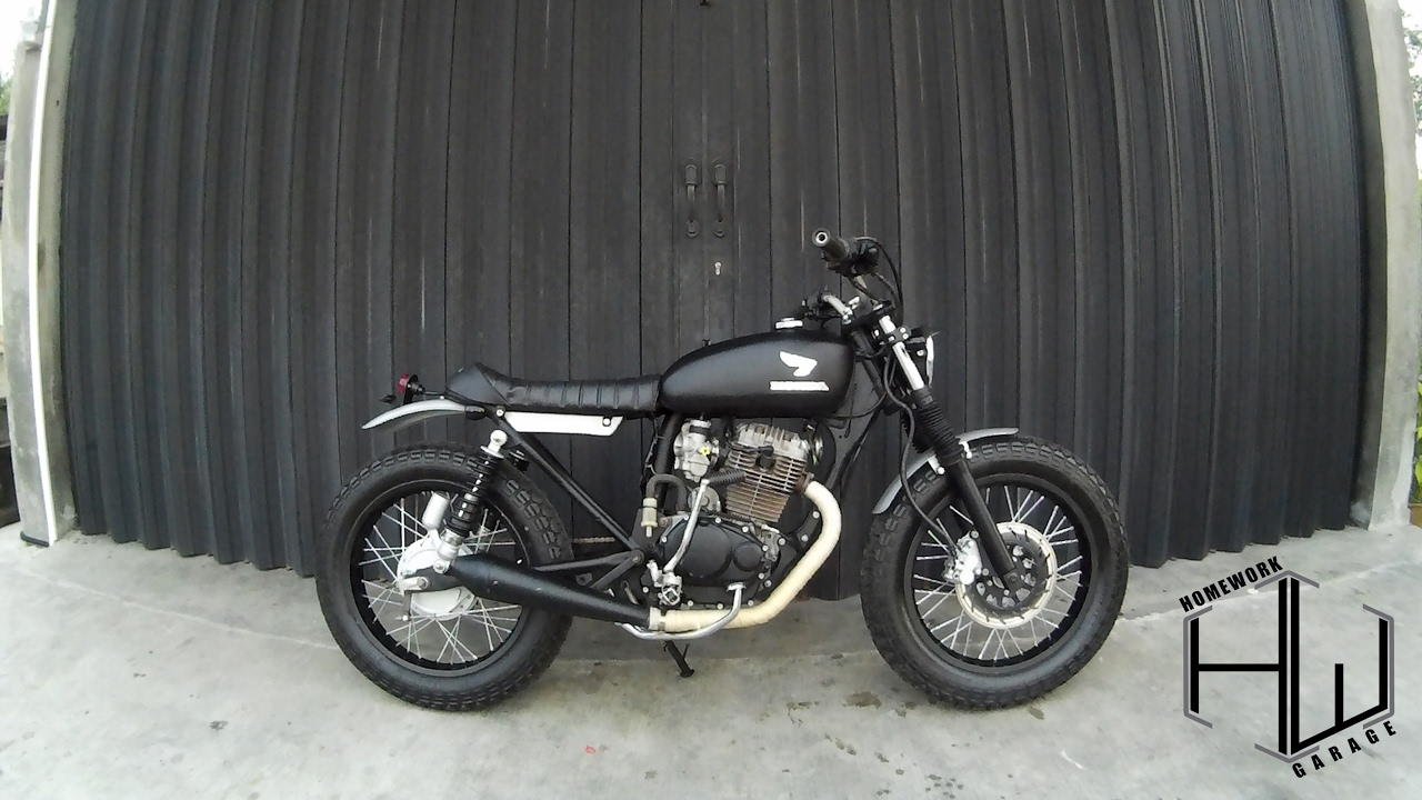 Honda tiger japstyle modification by homework garage youtube for Garage modification