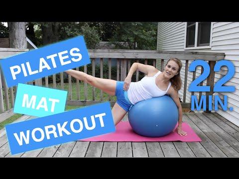 Pilates Mat Workout with Stability Ball (22 Min.)