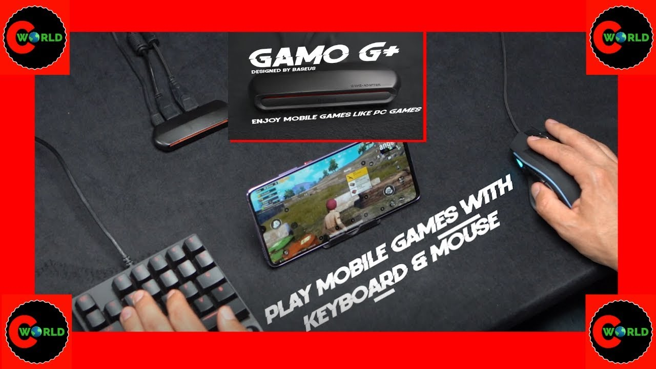 GAMO G+: iOS & Android Mobile game keyboard & mouse adaptor