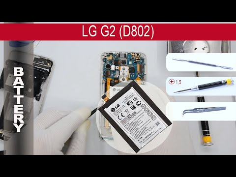 How to replace  🔋 battery 📱 LG G2 D802 (D800, D802) Tutorial
