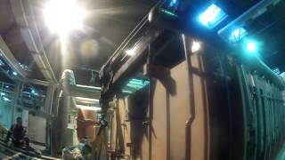 Работа крана-манипулятора Scania на заводе Икея