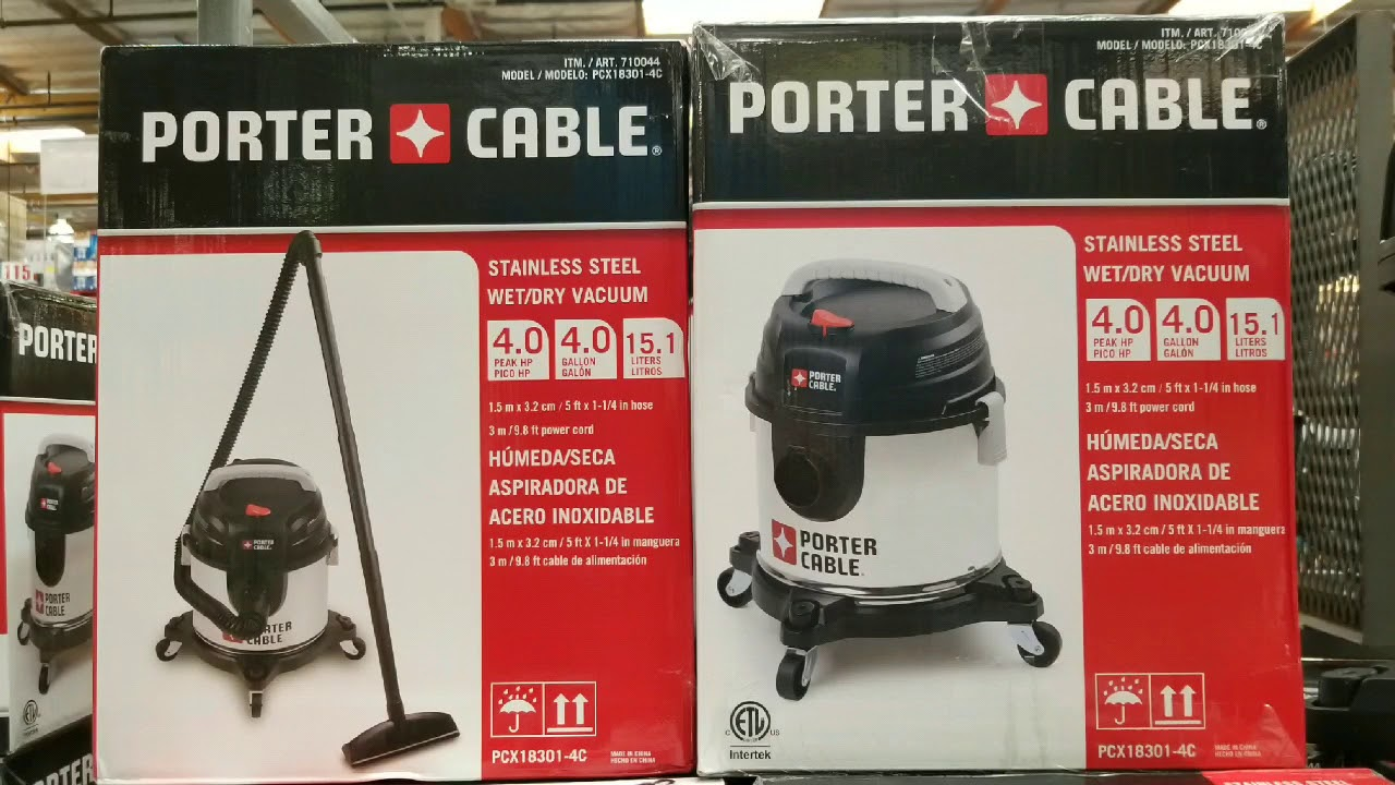 Costco! Porter Cable Stainless Steel 4 Gallon 4 HP Wet Dry Vacuum ...