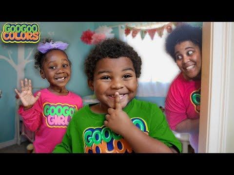 Where is Goo Goo Mom?  (Learn to Count to 5 in Hide N Seek Game)