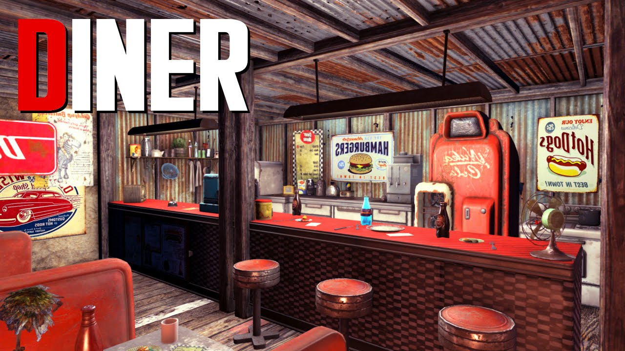 Fallout 4 settlement build diner youtube for Diner picture
