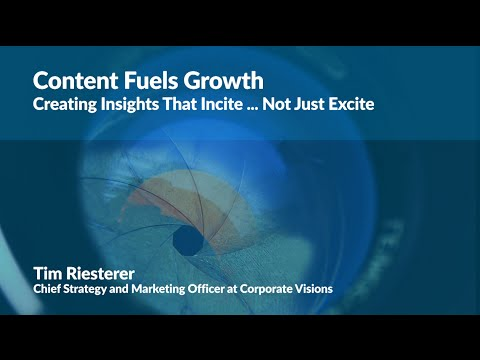 #DigitalGrowthCon 2016: Content Fuels Growth - Creating Insights That Incite… Not Just Excite