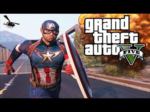 GTA 5 Mods - ULTIMATE CAPTAIN AMERICA MOD! (GTA 5 Mods Gameplay)