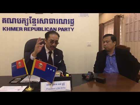 FB Live: Mr. Lun Rith, Director Of Khmer Republican Party