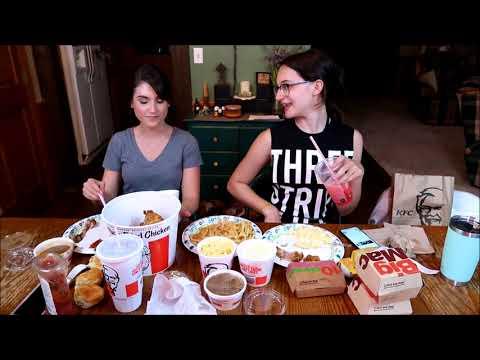 MCDONALDS AND KFC MUKBANG  Samantha Smith