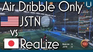 Air Dribble Only (Unlimited Boost) | JSTN vs ReaLize | Rocket League 1v1