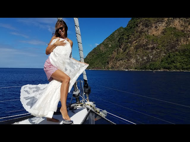 Say YES to the DRESS! Wedding planning on a sailboat!