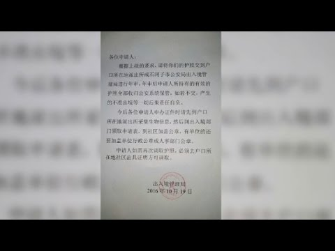 China Recalls Millions Of Passports