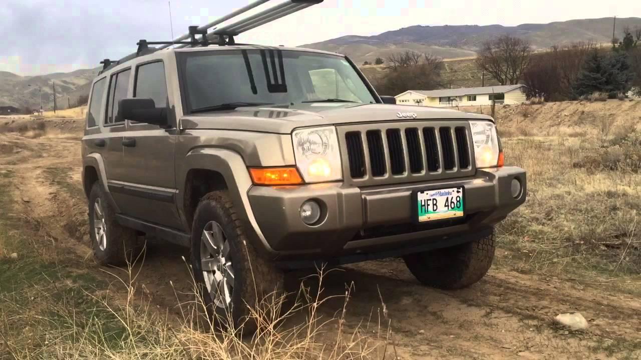 06 jeep commander hill climb - youtube