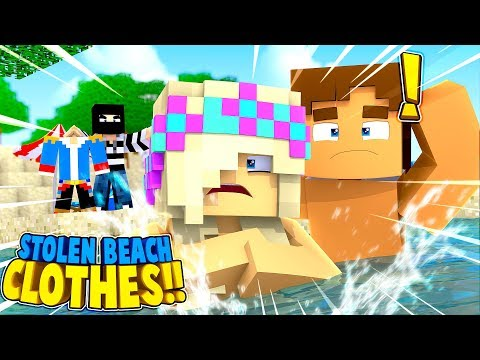 Minecraft DONNY & LEAH'S CLOTHES WERE STOLEN AT THE BEACH!!