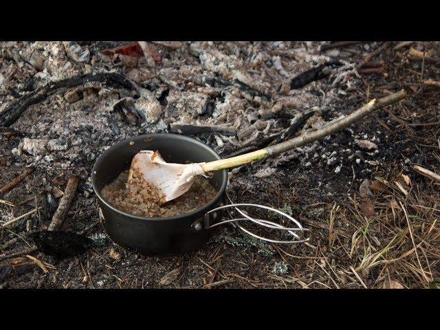 Как сделать ложку из бересты (How to make a spoon of bark)