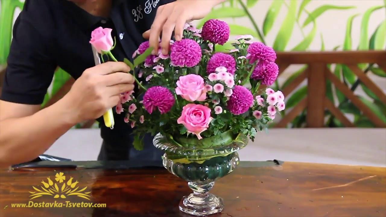 Букет из 23 роз мастер класс, цветов подарок