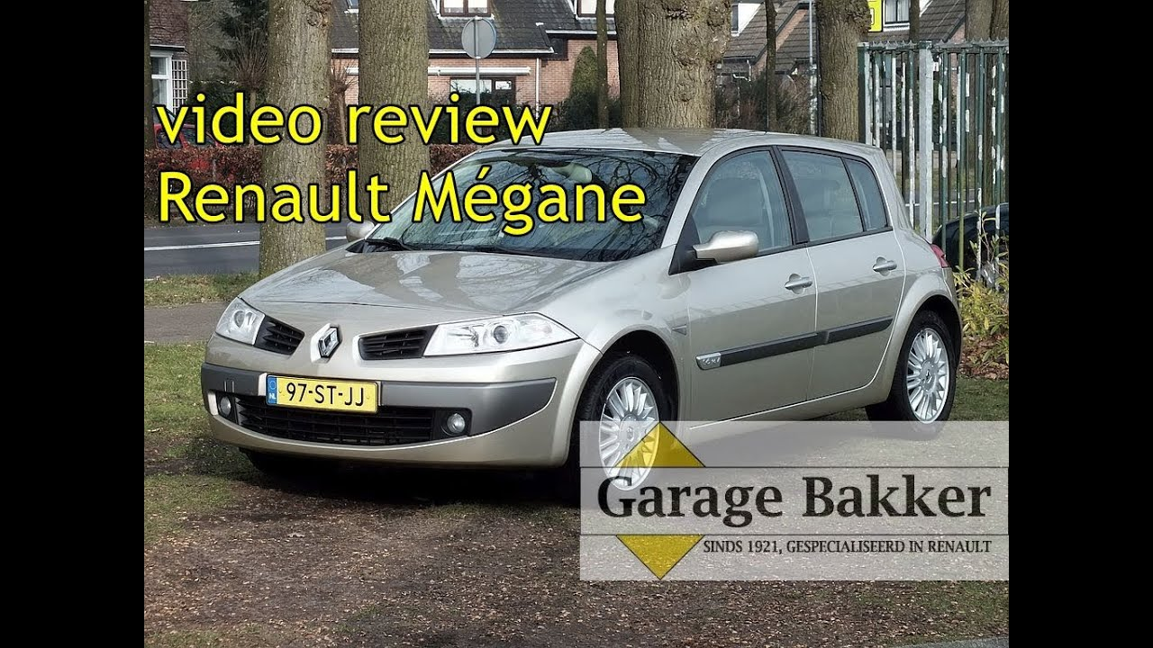 Video review renault m gane 1 6 16v automaat privil ge for Garage renault occasion herouville st clair
