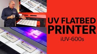 UV Flatbed Printer - Printing Name Badges With Compress iUV-600s