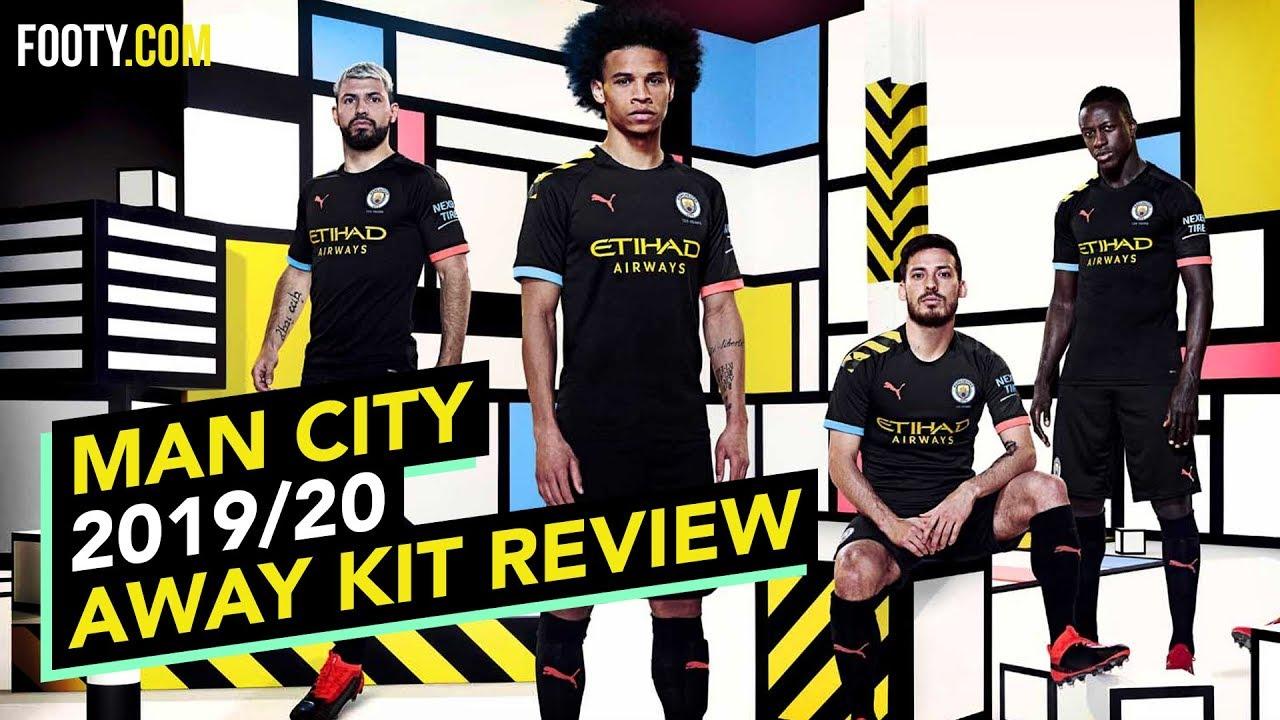 Man City 2019 20 Away Shirt Kit Review Youtube