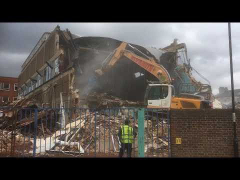 Our Old Ipswich Star offices being demolished at Lower Brook Street