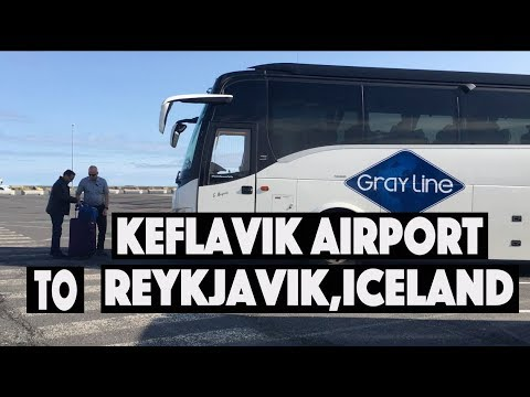 Keflavik Airport to Reykjavik Hotels,Iceland, Flybus Ride