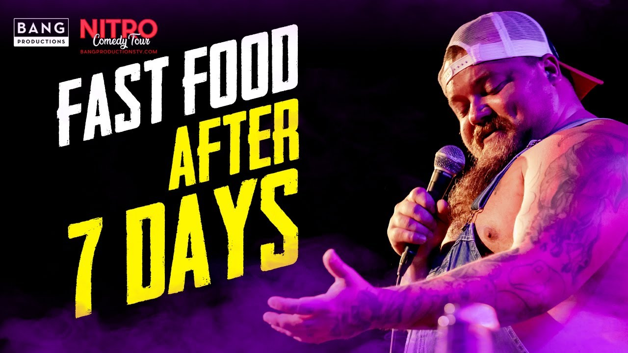 COMEDIAN CATFISH COOLEY: FAST FOOD AFTER 7 DAYS - COMEDY CHEESEBURGER COMEDIAN