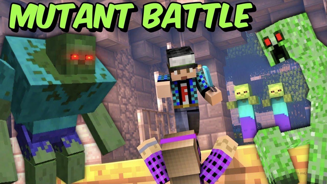 MINECRAFT αλλά οι μεταλλαγμένοι μας επιτέθηκαν mutant battle Famous Games @Let's Play Kristina