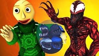Балди vs Веном 7: Финал в Космосе (Мороженщик | Baldi's Basics | Ice Scream Granny 2 3D Анимация)