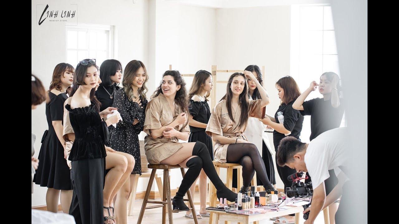 TRUNG TÂM ĐÀO TẠO KHOÁ HỌC TRANG ĐIỂM CHUYÊN NGHIỆP – QUỐC TẾ 2019  Linh Linh Makeup